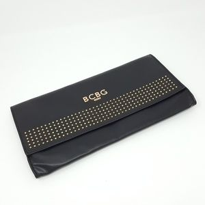 BCBG Paris Black Studded Clutch with Dust Bag
